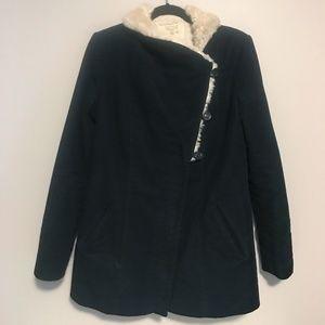 Zara Trafaluc Faux Fur Collar Jacket
